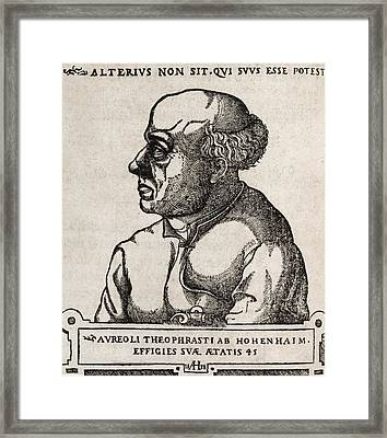 Paracelsus, Swiss Alchemist Framed Print by Middle Temple Library