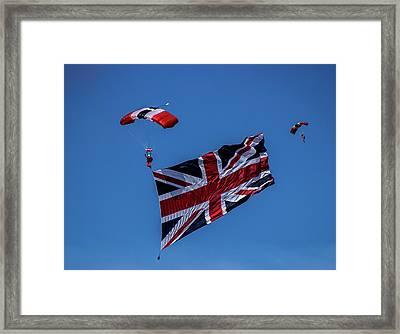 Parachutist Framed Print by Martin Newman