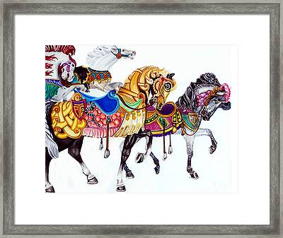Parade Framed Print by Bette Gray