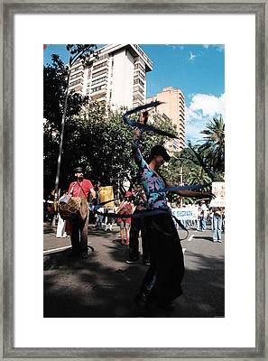 Parade Dancer Framed Print