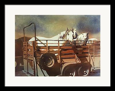 Tired Horse Framed Prints
