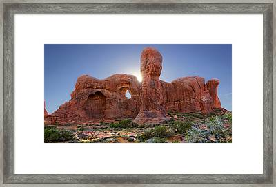 Parade Of Elephants In Arches National Park Framed Print by Mike McGlothlen