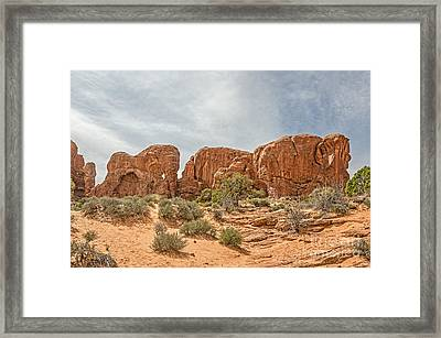 Framed Print featuring the photograph Parade Of Elephants by Sue Smith