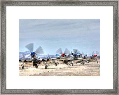 Parade Of Mustangs Framed Print