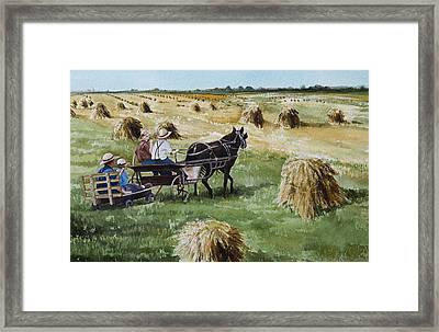 Parade Of Oats Framed Print
