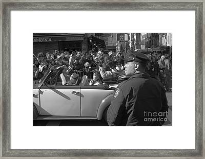 Parade Security Framed Print by Clarence Holmes