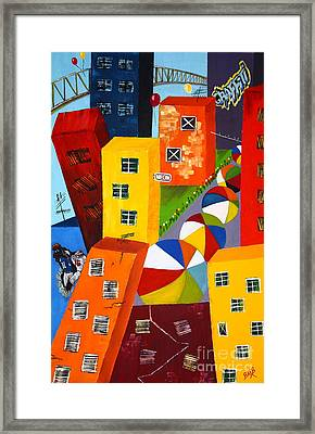 Parade The Day After Framed Print by Barbara Teller