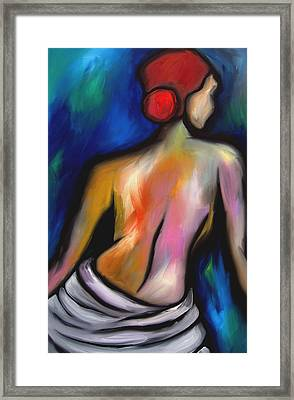 Paradise - Original Art Nude By Fidostudio Framed Print by Tom Fedro - Fidostudio