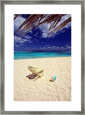Paradise Beach Ball Framed Print