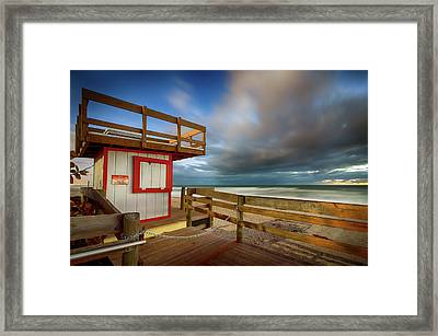 Paradise Beach Sunrise Framed Print
