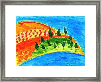 Paradise Blue Framed Print by Eul Hurley