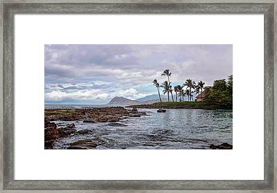 Paradise Cove Lagoon Framed Print by Heather Applegate
