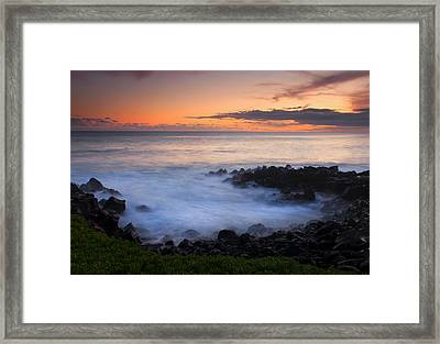 Paradise Cove Sunset Framed Print by Mike  Dawson