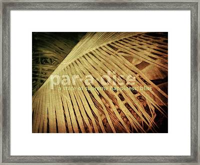 Paradise Defined Framed Print by Ann Powell