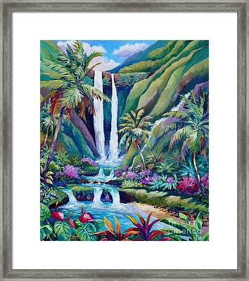 Paradise Falls  Back To Nature Framed Print