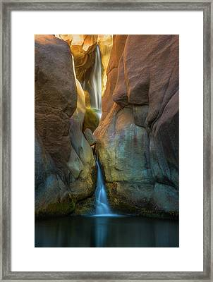 Framed Print featuring the photograph Paradise Falls by Darren White
