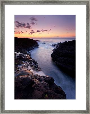 Paradise Falls Framed Print by Mike  Dawson