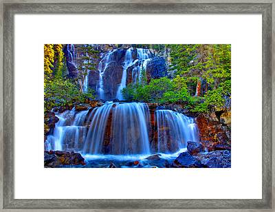 Paradise Falls Framed Print by Scott Mahon