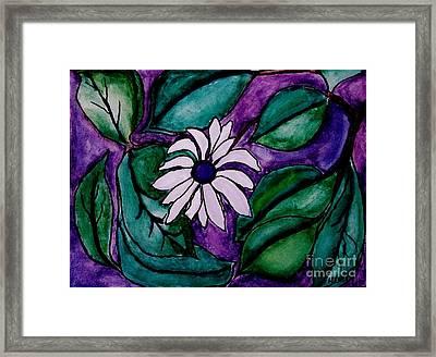Paradise Flower Framed Print by Marsha Heiken