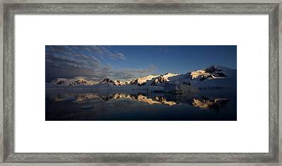Paradise Harbor Sunset Framed Print