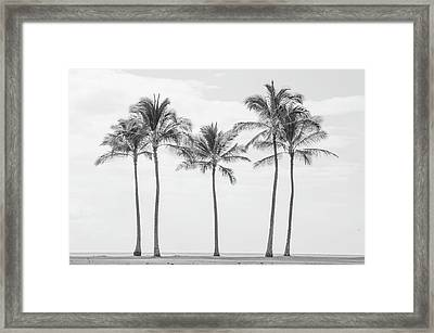 Paradise In Black And White II Framed Print