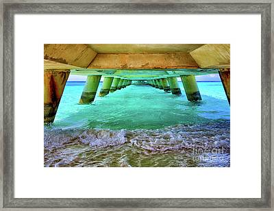 Paradise In Grand Turk Never Ends Framed Print by Mariola Bitner