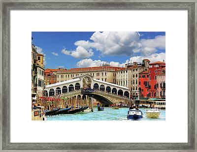 Paradise In Venice Framed Print by Mariola Bitner