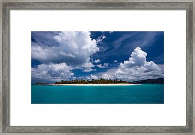 Paradise Is Sandy Cay Framed Print by Adam Romanowicz