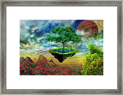 Paradise Island Framed Print by Ally White