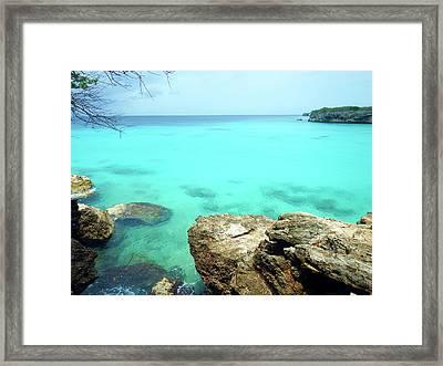 Framed Print featuring the photograph Paradise Island, Curacao by Kurt Van Wagner