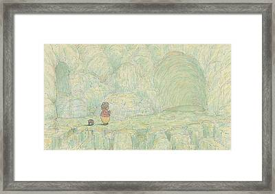 Paradise, Jes' Billy An' Me, An All The World Great Big Caves Of Sugar  Framed Print by Herbert Crowley