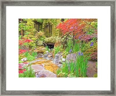 Paradise On Earth Impressions Framed Print by Gill Billington