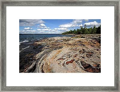 Paradise On Wreck Island Framed Print