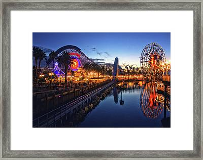 Paradise Pier Sunset Framed Print
