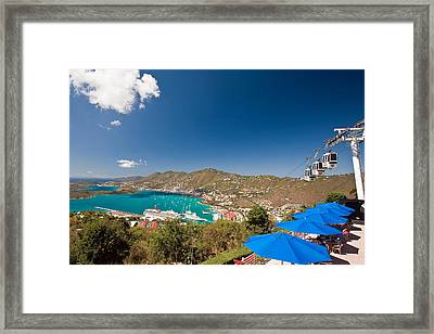 Paradise Point View Of Charlotte Amalie Saint Thomas Us Virgin Islands Framed Print