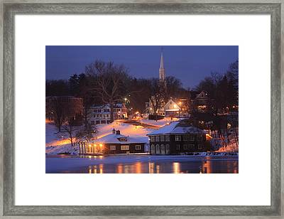 Paradise Pond Smith College Winter Evening Framed Print