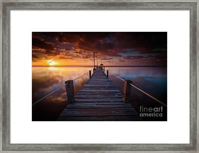 Paradise Sunrise  Framed Print by Marco Crupi