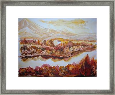 Framed Print featuring the painting Paradise Valley by Anna  Duyunova