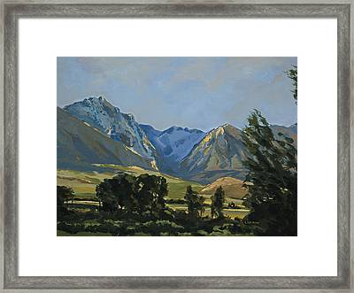 Paradise Valley Mountains Framed Print