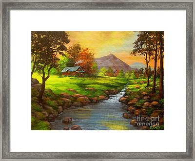 Paradise  Valley Framed Print by Shasta Eone