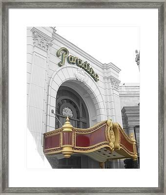 Paradisetheatre Framed Print by Audrey Venute