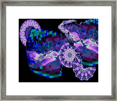 Framed Print featuring the digital art Paradisio by Charmaine Zoe