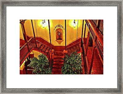 Parador Santa Maria La Real Framed Print