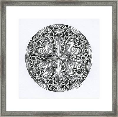 Paradoxical Zendala Framed Print by Jan Steinle