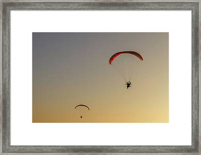 Paragliders  Framed Print by Stelios Kleanthous