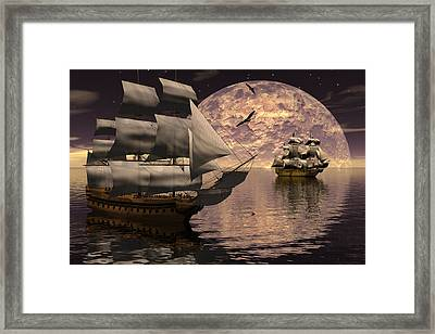 Parallel Course Framed Print