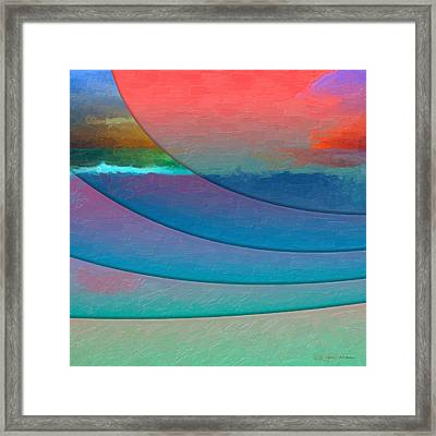 Parallel Dimensions - Submerged Framed Print by Serge Averbukh