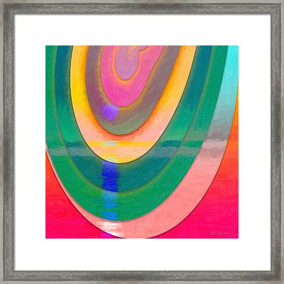 Parallel Dimensions - The Descent Framed Print by Serge Averbukh