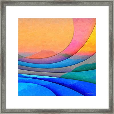 Parallel Dimensions - The Sacred Mountain Framed Print by Serge Averbukh