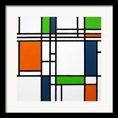 Parallel Lines Composition Framed Prints